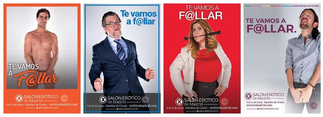 Cartel publicitario del Salón Erótico de Madrid.